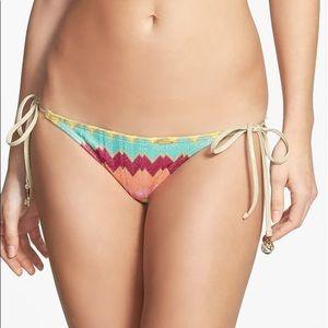 Luli Fama Wavey Knit Front Side Tie Bikini Bottoms